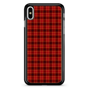 Red Tartan Plaid iPhone X Case