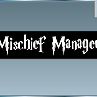 MISCHIEF MANAGED vinyl decal No. 2 bumper sticker funny Harry Potter