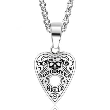 ABAICER 1pcs 316L Stainless Steel Pendant Ouija Board Planchette Necklace 24 Inch Chain Ouija Board pendant Jewelry High Quality