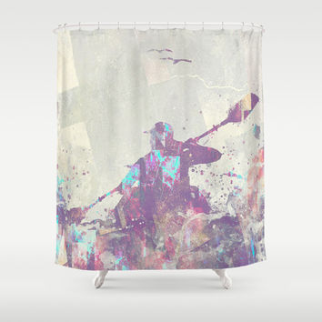 Explorers II Shower Curtain by HappyMelvin | Society6