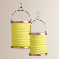 Green Fabric Folding Lanterns - World Market