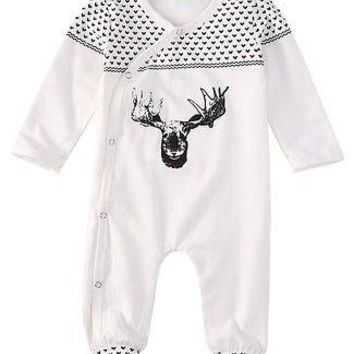 Baby Girls Boys Clothing Baby Clothes Pajamas Cute Deer 100% Cotton Long Sleeve Infant de bebe costumes baby Rompers