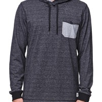 Ezekiel Dooley Long Sleeve Hooded Shirt - Mens Shirt - Black