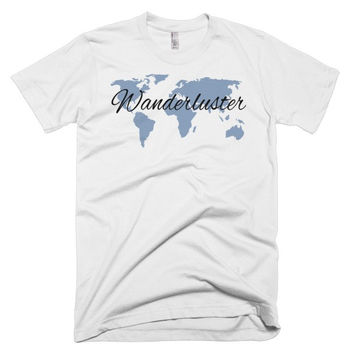 Wanderluster Globe Short sleeve men's t-shirt