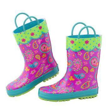 All Over Print Paisley Garden Rain Boots