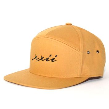 XXII 7 Panel Strap-back in Biscuit