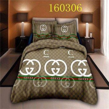 ONETOW Gucci 4pc Bedding Set-QB