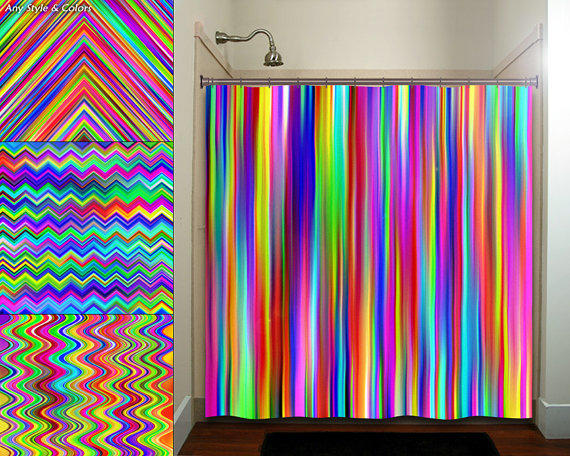Colorful Rainbow Multicolor Chevron From Tablishedworks On Etsy