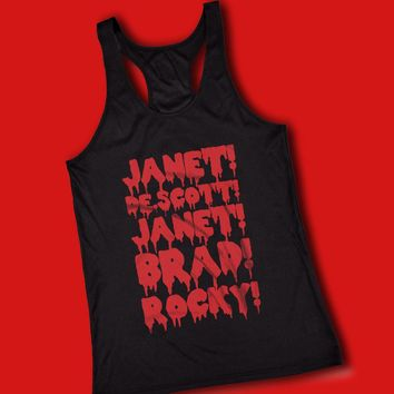 Rocky Horror Janet Brad Dr Scott Frank N Furter Horror Musical Movie Cult Film Women'S Tank Top