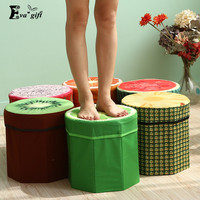Fruit Pattern storage box small seat box toy Organizer clothes Folding Strong storage basket case household items