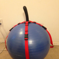 Exercise Ball Dildo Harness. Mature. Vegan Friendly BDSM