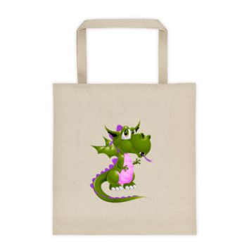 Draco Green Purple Tote bag