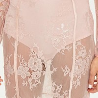 Missguided - Pink Panties Insert Lace Skirt