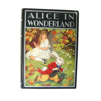 Alices Adventures in Wonderland and Through The Looking Glass - Milo Winter Illustrations - Childrens Classic Book - Windemere Series