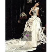 Custom Petite-Plus Size Elegant White Couture Formal Bridal Gowns SKU-119028
