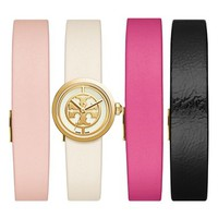 Tory Burch 'Reva' Leather Strap Watch Set, 20mm | Nordstrom