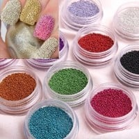 350buy Fashion Caviar Nails Art New 12 Colors plastic Beads Manicures or Pedicures Nail Art Hot Sales:Amazon:Beauty