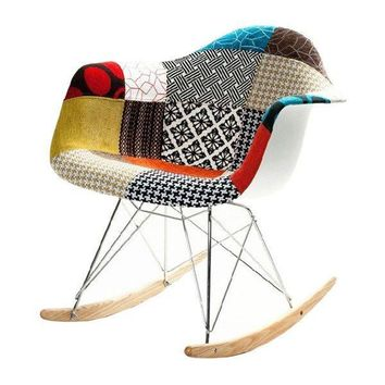 Picasso Patchwork Modern Rocking Chair