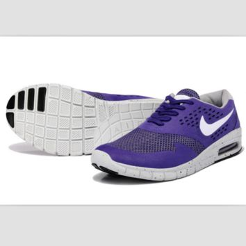 NIKE fashion casual skateboard shoes sports shoes Purple white