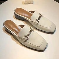 GUCCI Women Fashion Leather Slipper Mules Shoes Shoes