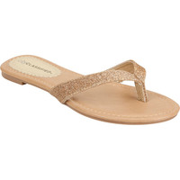 City Classified Glitter Womens Sandals Gold  In Sizes