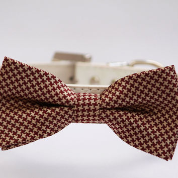 Brown Gold Dog Bow Tie -Brown and Gold- Wedding Dog Collar- with high quality leather collar, Large Dog Collar