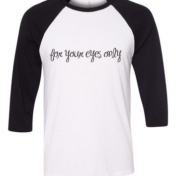 "One Direction ""If I Could Fly - For Your Eyes Only"" Baseball Tee"