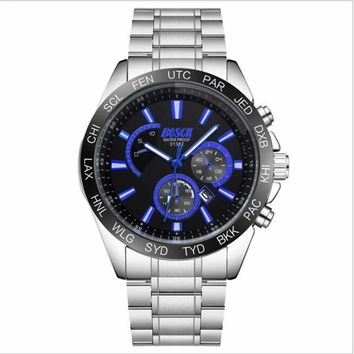 Brand businessman real men watch waterproof fashion model new quartz watch in 2018.