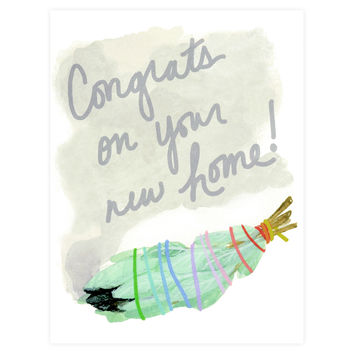 Congrats On Your New Home Sage Stick