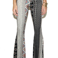 Rosanna Tapestry Floral Print Bell Bottom Pants