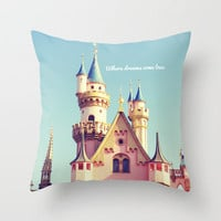 Where dreams come true Throw Pillow by Libertad Leal Photography | Society6
