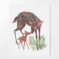 Deer Mom - 8x10 art print