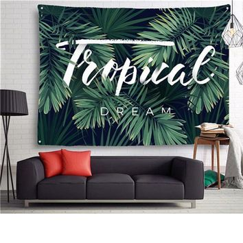 New Tropical Plants Tapestry Native Wall Hanging Art Shawl Throw Beach Towel Yoga Mat Blanket Mandala Bohemia Tapestry For Home