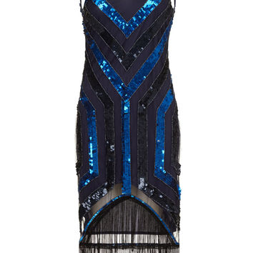 Pre Order Rita Navy Blue Fringe Dress Vintage 1920s inspired Flapper Great Gatsby Beaded Robe Charleston Downton Abbey Art Deco Bridesmaid