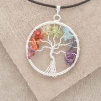 Tree of Life Chakra Necklace