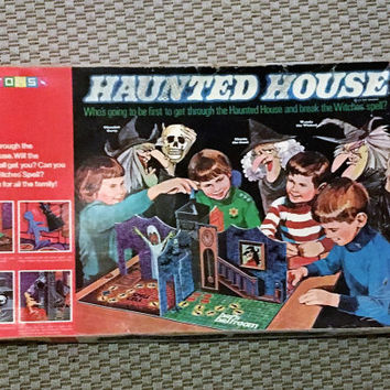 "Rare Vintage 1971 ""Haunted House"" Board Game by Toltoys / Retro Halloween Board Game / 3D Board Game"