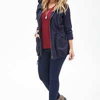 FOREVER 21 PLUS Hooded Utility Jacket
