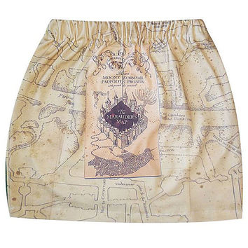 Marauders Map, Tube Skirt, Harry Potter, Mini Tube Skirt, ROOBY LANE