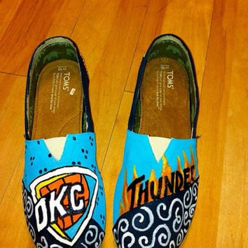 OKC Thunder Custom Painted Shoes & Toms (Inspired by Other Designs)
