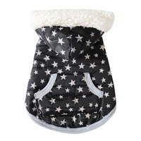 Fashion Soft Winter Warm Pet Dog Clothes Cute Star Dot Printed Costume Clothing Jacket Puppy Dogs Hoodie Coat