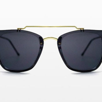 Spitfire - FTL2 Gold Sunglasses, Black Lenses
