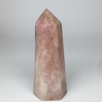 "2858g,10.5""x4.2""x3"" Natural Rose Quartz Tower Point Crystal @Madagascar,TP170"
