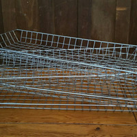 Vintage Industrial Metal Basket Great Storage Organization Functional Decor