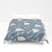 California Poppies – Blue Duvet Cover by Creative Break
