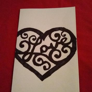 Valentine's day silhouette cards blank inside for your own special message .