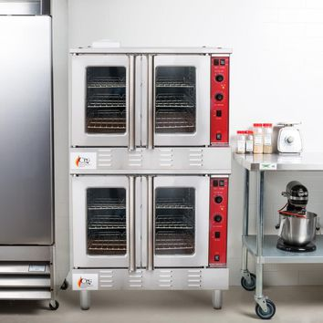 Oven Double Deck Full Size Natural Gas Convection Oven with Legs - 108,000 BTU Item
