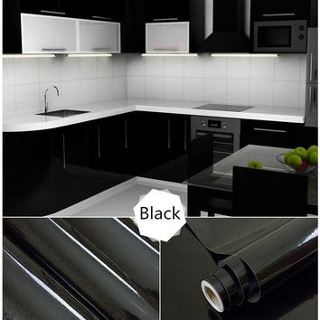 1 Meter PVC Self Adhesive Furniture Renovation Stickers Kitchen Cabinet  DIY Wall Paper Waterproof Wallpaper Decorative Film