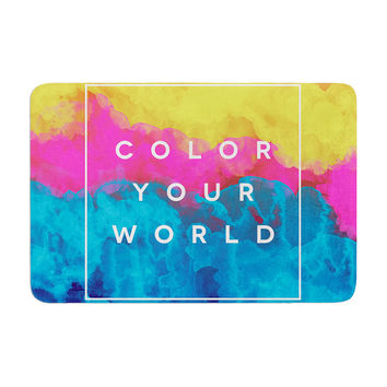 "Galaxy Eyes ""Color Your World"" Rainbow Paint Memory Foam Bath Mat"