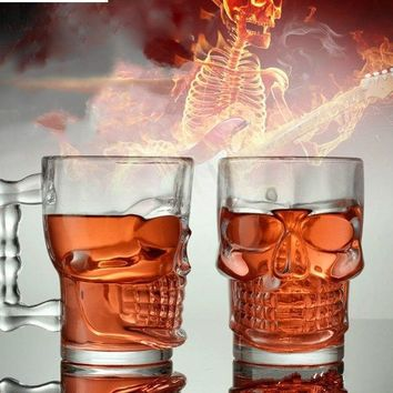 500ml Skull Face Grim Cute Drinking Wine Glasses Champagne Cocktail Glass Goblets