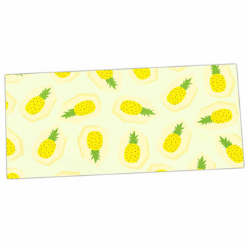 "Strawberringo ""Pineapple Pattern"" Yellow Fruit Desk Mat"